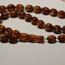 Natural Genuine Baltic AMBER pressed Islamic 33 Prayer beads Tasbih 27.69gr.B858