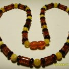 Amber necklace Natural Baltic Amber mixed beads colorful beads  13.28 gr.A-29