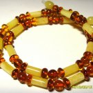Amber necklace Natural Baltic Amber colorful mixed bead Ladies   11.50 gr. A-148