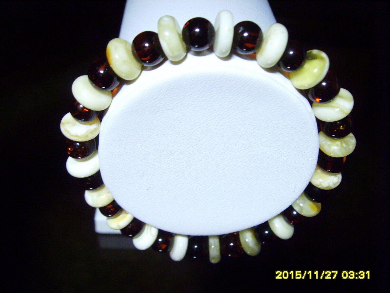 Amber bracelet Mixed Beads Genuine Baltic Amber Bracelet 7.37gr A- 94