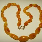 Amber Necklace Natural Baltic Amber Butterscotch beads silver claps 19.79grA-366