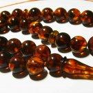 Islamic 33 Prayer beads Genuine Baltic Amber pressed misbaha Tasbih 27,31gr B226