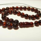 Islamic 33 prayer beads Natural baltic Amber pressed Tasbih Misbaha 29.05grB-762