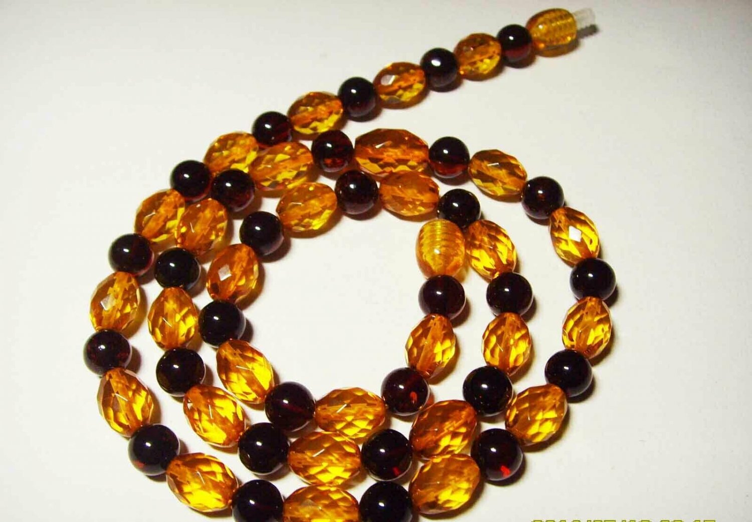 Amber necklace Natural baltic Amber necklace Ladies mixed beads  12.06gr. A-437