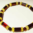 Amber bracelet Natural baltic Amber mixed colorful beads elastic 5.65 gr A-428