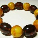 Amber bracelet Natural Baltic Amber pressed beads elastic unisex 26.19gr- B-49