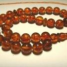 Islamic 33 Prayer beads Genuine Baltic Amber pressed misbaha tasbih 27,11g B-601