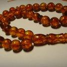 Islamic 33 Prayer beads Genuine Baltic Amber pressed Tasbih misbaha 27,58grB-615