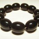 Amber bracelet Natural Baltic Amber pressed beads elastic unisex  21.49gr. B199
