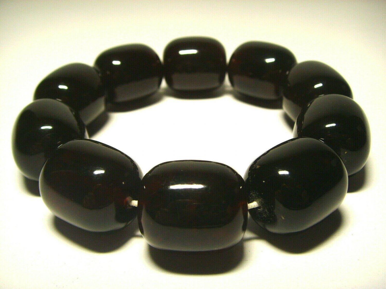 Massive Amber Bracelet Natural baltic Amber pressed beads unisex 36.37gr- B-133