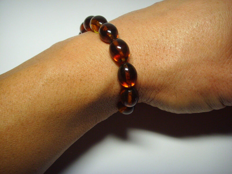 Genuine Baltic pressed Amber unisex  bracelet  10.20gr. B16