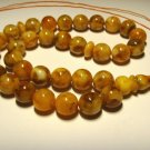 Islamic 33 Prayer beads Natural baltic Amber pressed Tasbih Misbaha 26,74grB-562