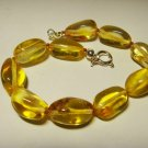 Amber Bracelet Natural baltic Amber Transparent beads silver claps 9.70gr. A-250
