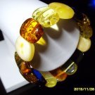 Colour Mix Genuine Baltic Amber stretch  Bracelet 23.06gr. A-116
