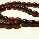 Islamic 33 Prayer olive beads Genuine Baltic Amber pressed Tasbih  27,53gr B-760