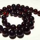 Massive Amber Necklace Natural Baltic Amber pressed round dark cherry  50.10gr