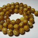 Amber Necklace Natural baltic Amber pressed round colorful beads   27.97 gr b-32