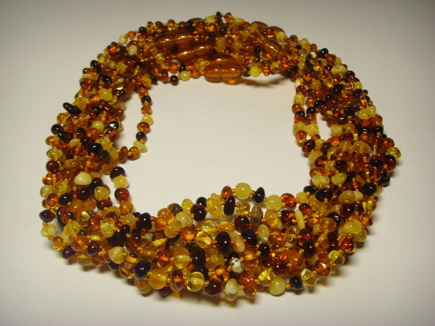 Lot of 10  Baby cerified  Genuine Baltic Amber Necklaces 39.23gr. F-163