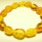 Amber bracelet  Natural Baltic Amber transparent yellow  beads  6.86gr. A-192
