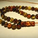 Genuine Baltic AMBER pressed Islamic 45 Prayer beads Tasbih 27.94gr B-870