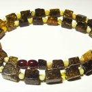 Amber necklace Natural Baltic Amber Mixed colorful beads Ladies 21.30gr  A-294