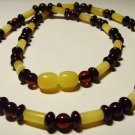 Amber Necklace Genuine baltic Amber mixed colorful beads Ladies  8.32 gr. A-74