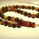 Islamic 45 Prayer  beads Natural Baltic Pressed Amber  Tasbih 28.03gr B-872