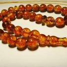 Islamic 33 Prayer beads Genuine Baltic Amber pressed cognac Tasbih  20,55gr B718