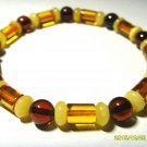 Amber Bracelet Mixed Beads Genuine Baltic Amber Bracelet 6.15gr A- 59