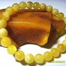 Genuine Baltic Amber round shape beads Bracelet 7.54gr. A-55