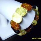 Massive Colour Mix Genuine Genuine Baltic Amber elastic Bracelet 23.78 gr. A-126