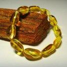 Amber Bracelet Natural Baltic Amber transparent beads elastic 10gr. A-530