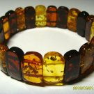 Natural baltic Amber bracelet colorful beads elastic Ladies 11.50gr. A-49