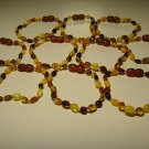 Lot of 10 Wholesale Baby Genuine Baltic Amber Bracelets 16.45gr. C-90