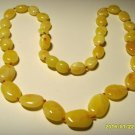 Naturl Baltic Amber necklace white yellow beads for ladies  10.60grams  A-322