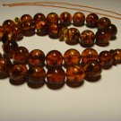 Islamic 33 Prayer beads Natural Baltic pressed Amber Tasbih  26,89gr B-643