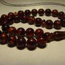 Islamic 33 prayer beads  Genuine baltic Amber pressed Tasbih  27.39gr B-806