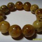 Natural  Baltic Pressed Amber round 16mm beads elastic  Bracelet  29.87gr. B-4
