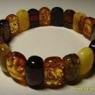 Amber bracelet Exclusive Colour Mix Genuine Baltic Amber Bracelet 18.04 gr.A-245