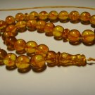 Islamic 33 Prayer beads Genuine Baltic Pressed Amber Tasbih 26,59gr B709