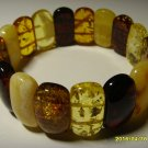 Amber bracelet Exclusive Genuine Mix Colour Baltic Amber  Bracelet 21.16gr. A-75