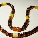 Amber Necklace Natural Baltic Amber mixed colorful beads Ladies 12.76 gr. A-70