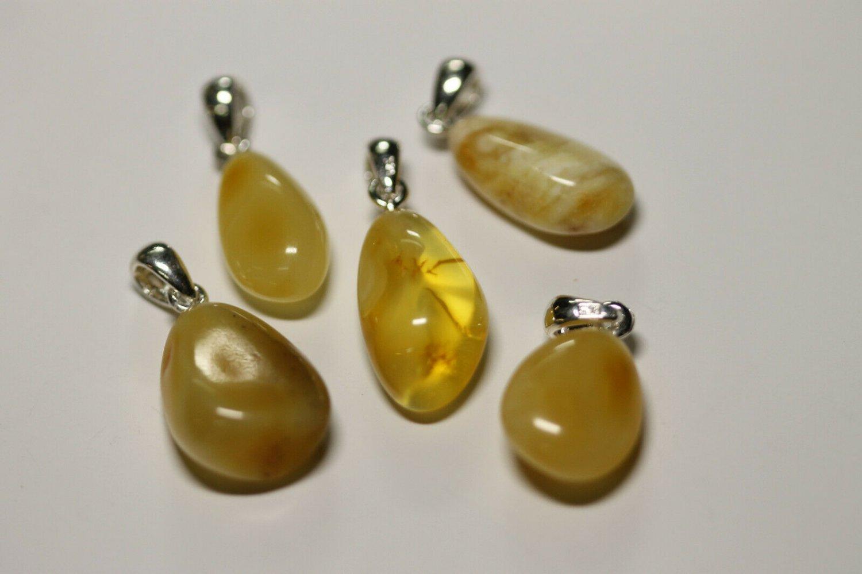 Genuine Baltic Amber silver Pendants 6.67gr A 433