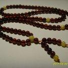 Buddhist Mala Natural Genuine Baltic Amber  108 Prayer Round Beads  8.76gr A-370