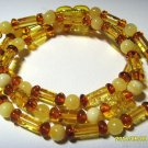 Amber necklace Natural Baltic Amber colorful mixed beads ladies  8 gr. A-379