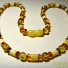 Amber Necklace natural Baltic Amber colorful mixed beads Ladies 11.67 gr. A-167
