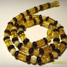 Amber necklace Natural Baltic Amber mixed beads knotted Ladies 12.22 gr. A-286