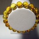 Genuine Baltic Pressed Amber elastic unisex  Bracelet 8,30 gr B-107