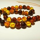 Islamic 33 Prayer beads Genuine Baltic Amber pressed Tasbih Misbaha 36,19gr B-77