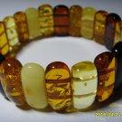 Mix Colour Natural Baltic Amber  Bracelet for men for women  20.85 gr. A-210